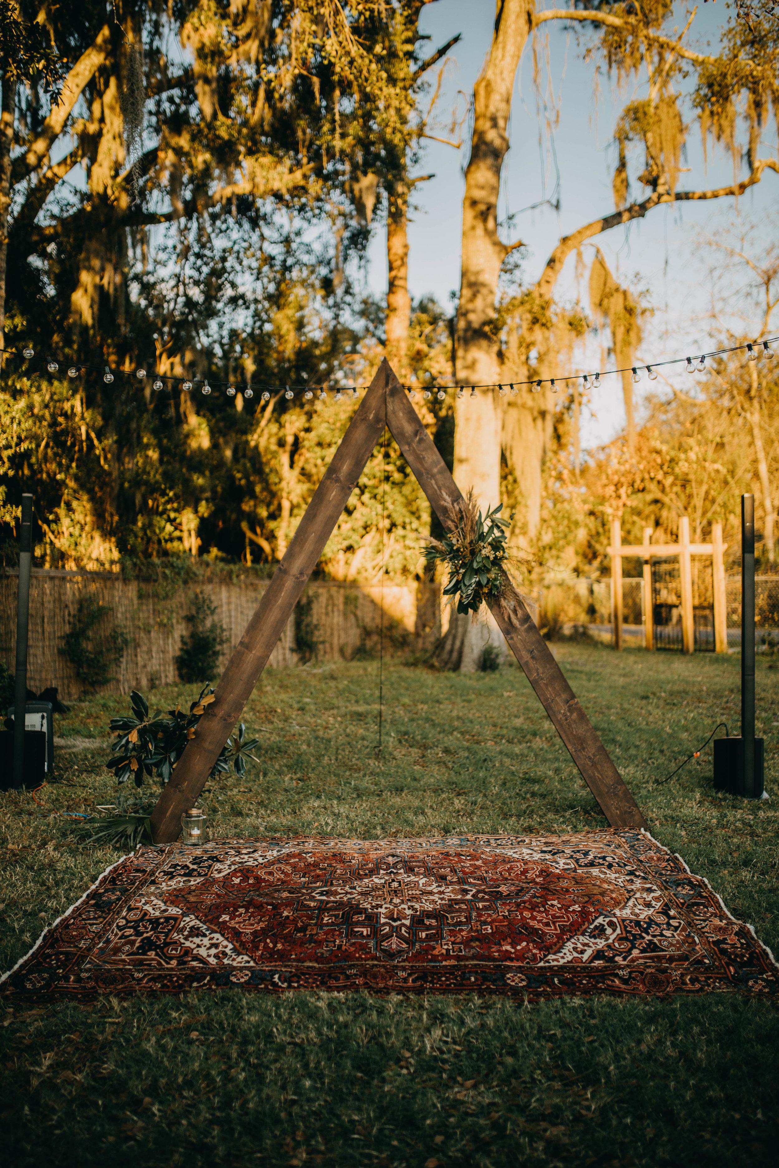 Triangle Arch | American Traditional Tattoo Themed Eco Friendly Dark Florida Wedding