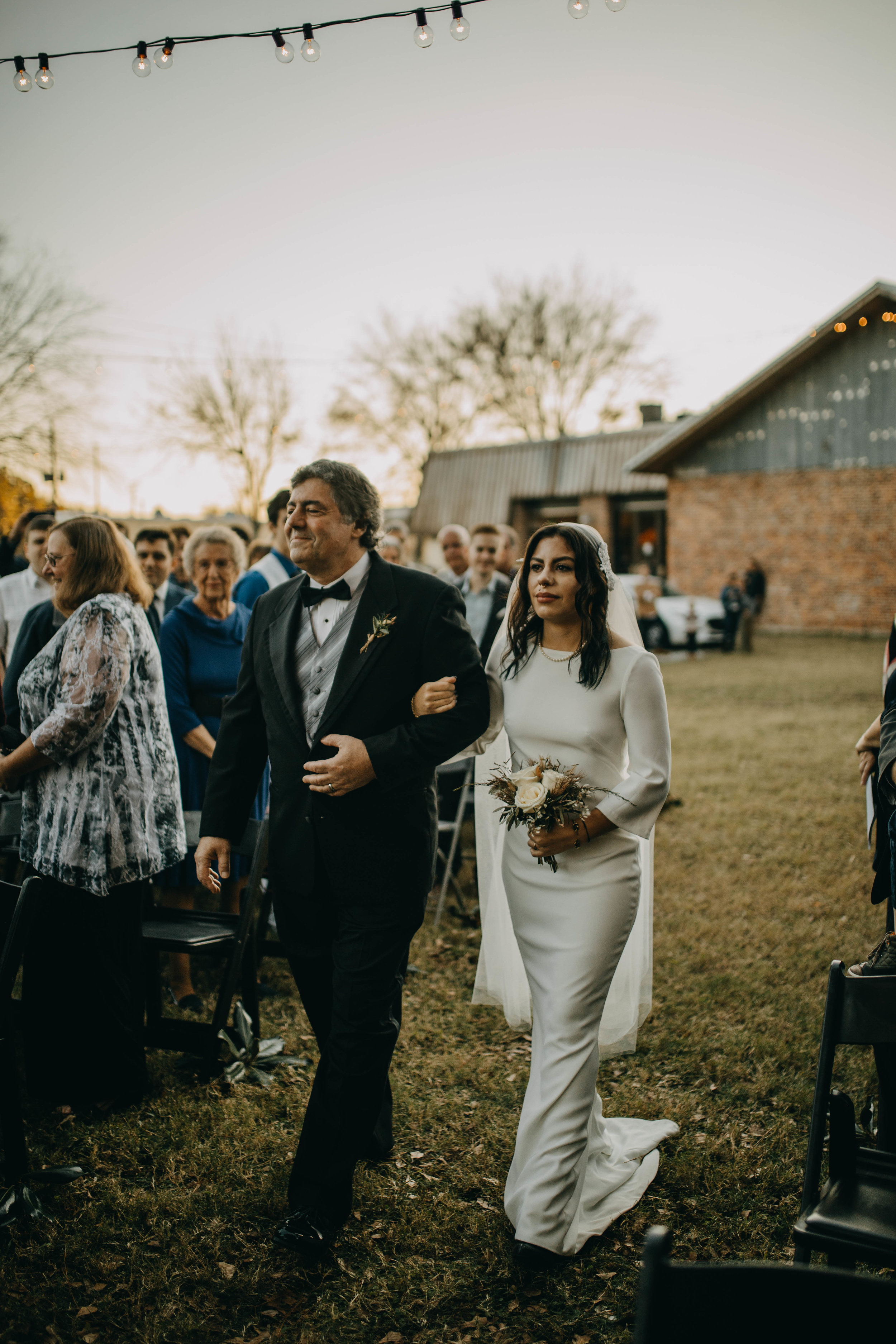 Walking down the aisle | American Traditional Tattoo Themed Eco Friendly Dark Florida Wedding