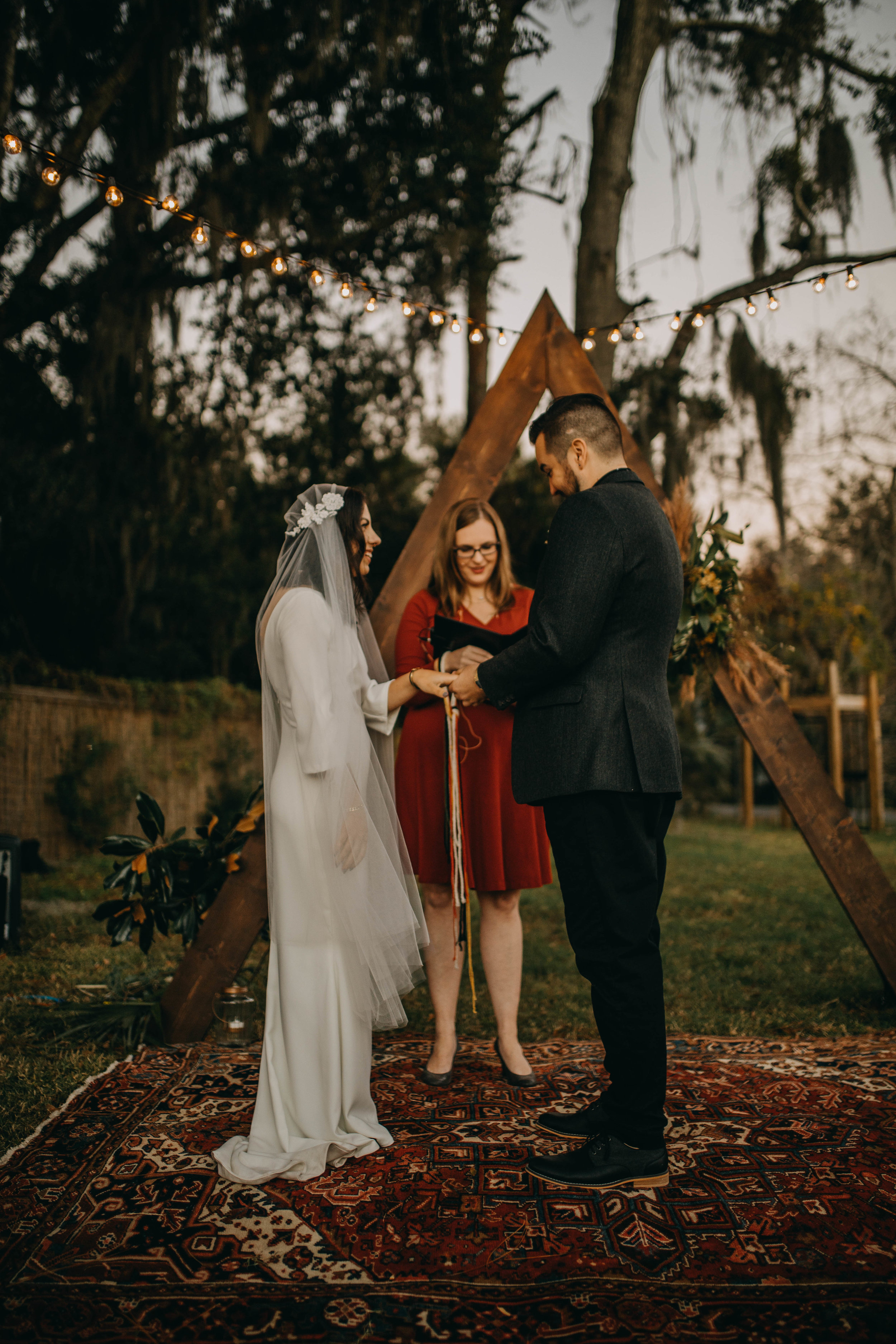 Ring Ceremony | American Traditional Tattoo Themed Eco Friendly Dark Florida Wedding