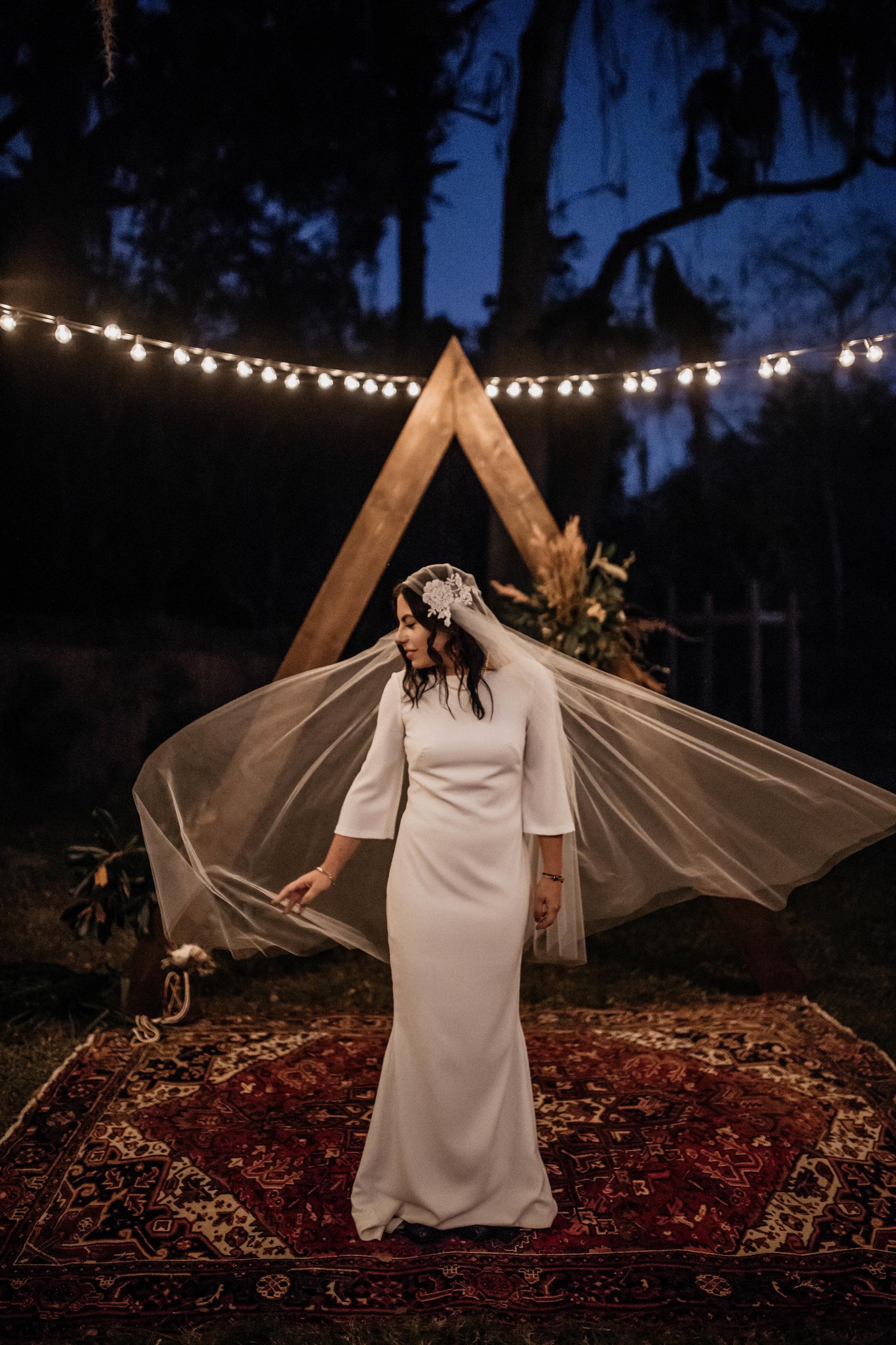 Bride Photos | American Traditional Tattoo Themed Eco Friendly Dark Florida Wedding