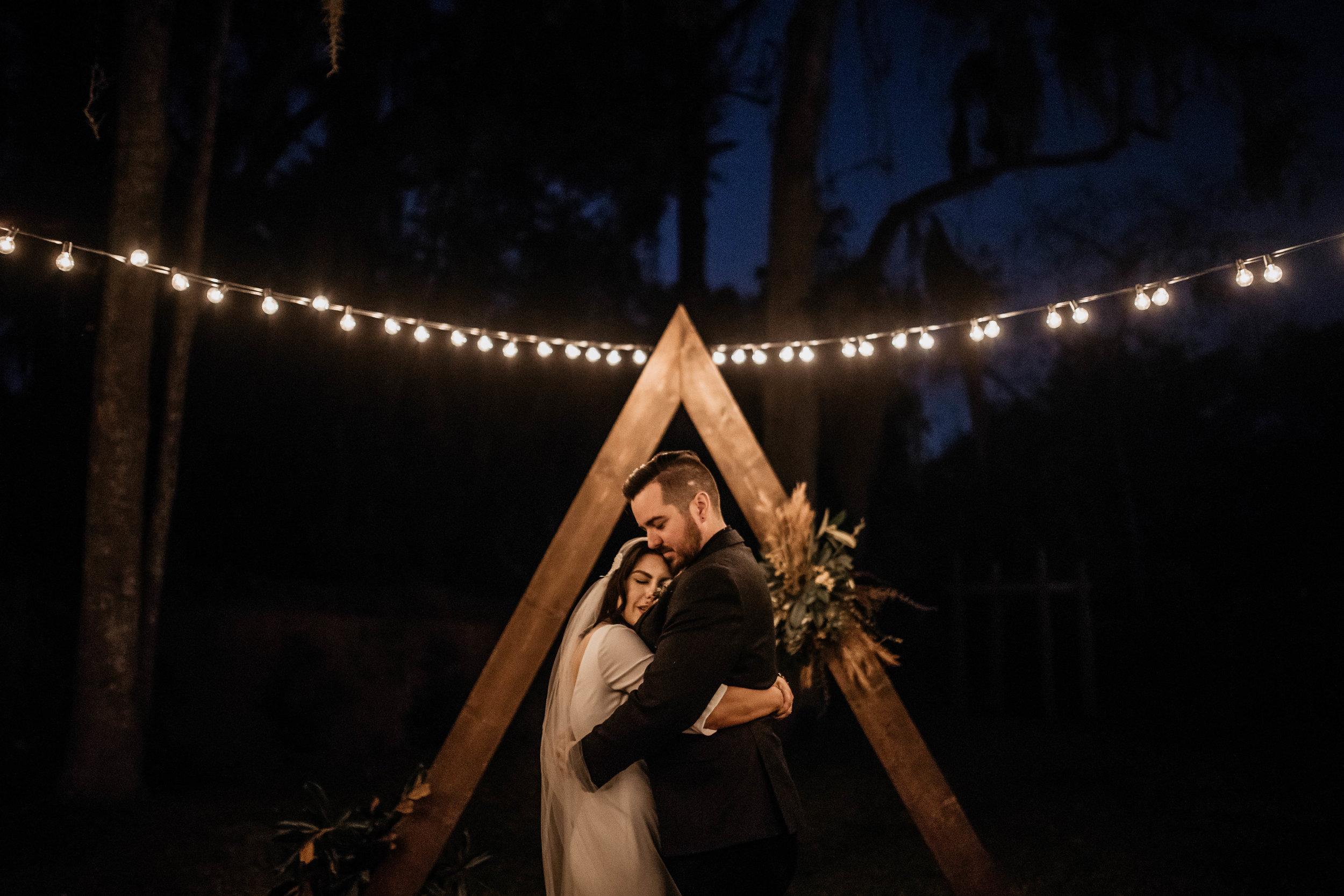 Bride & Groom Photos | American Traditional Tattoo Themed Eco Friendly Dark Florida Wedding