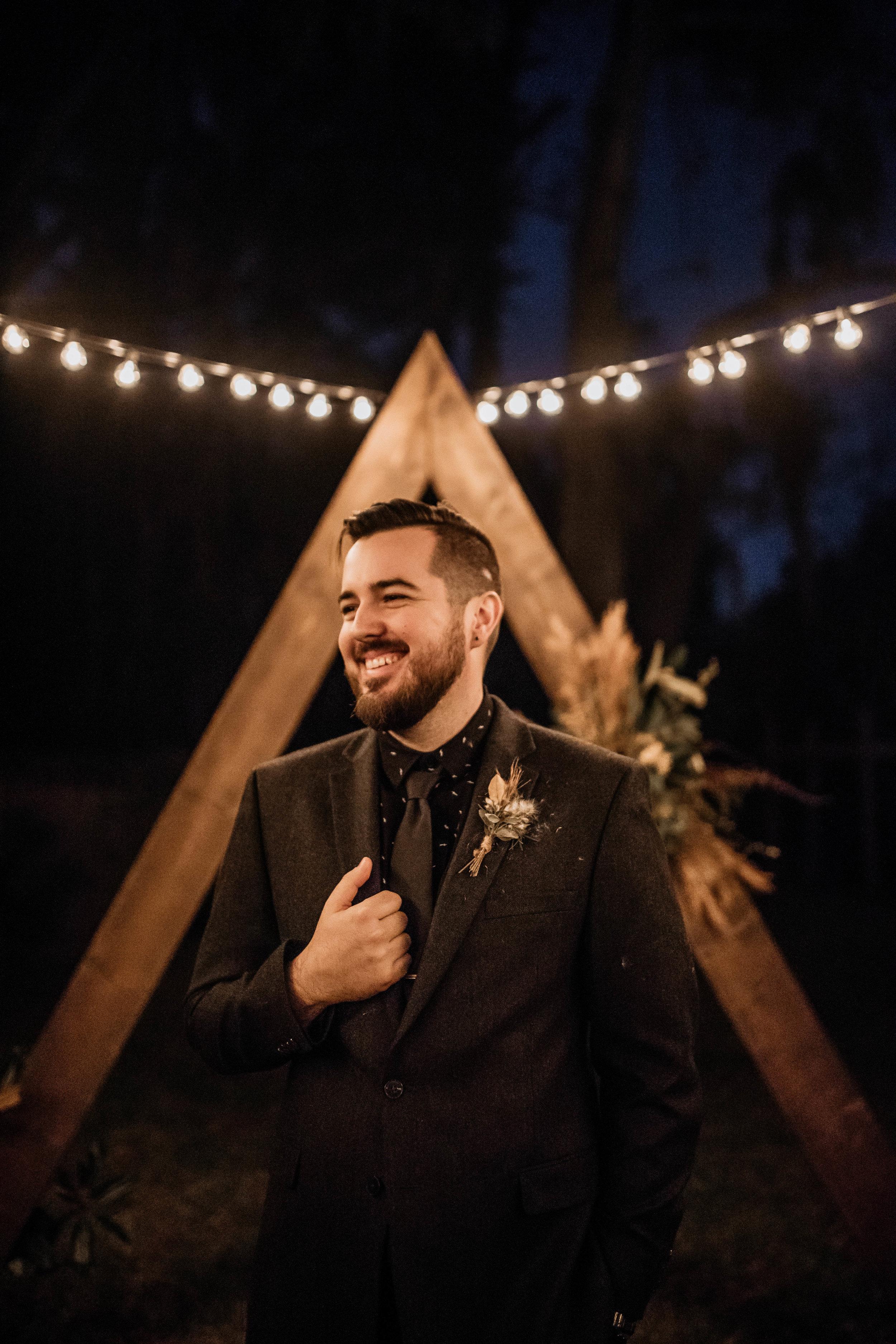Groom Photos | American Traditional Tattoo Themed Eco Friendly Dark Florida Wedding