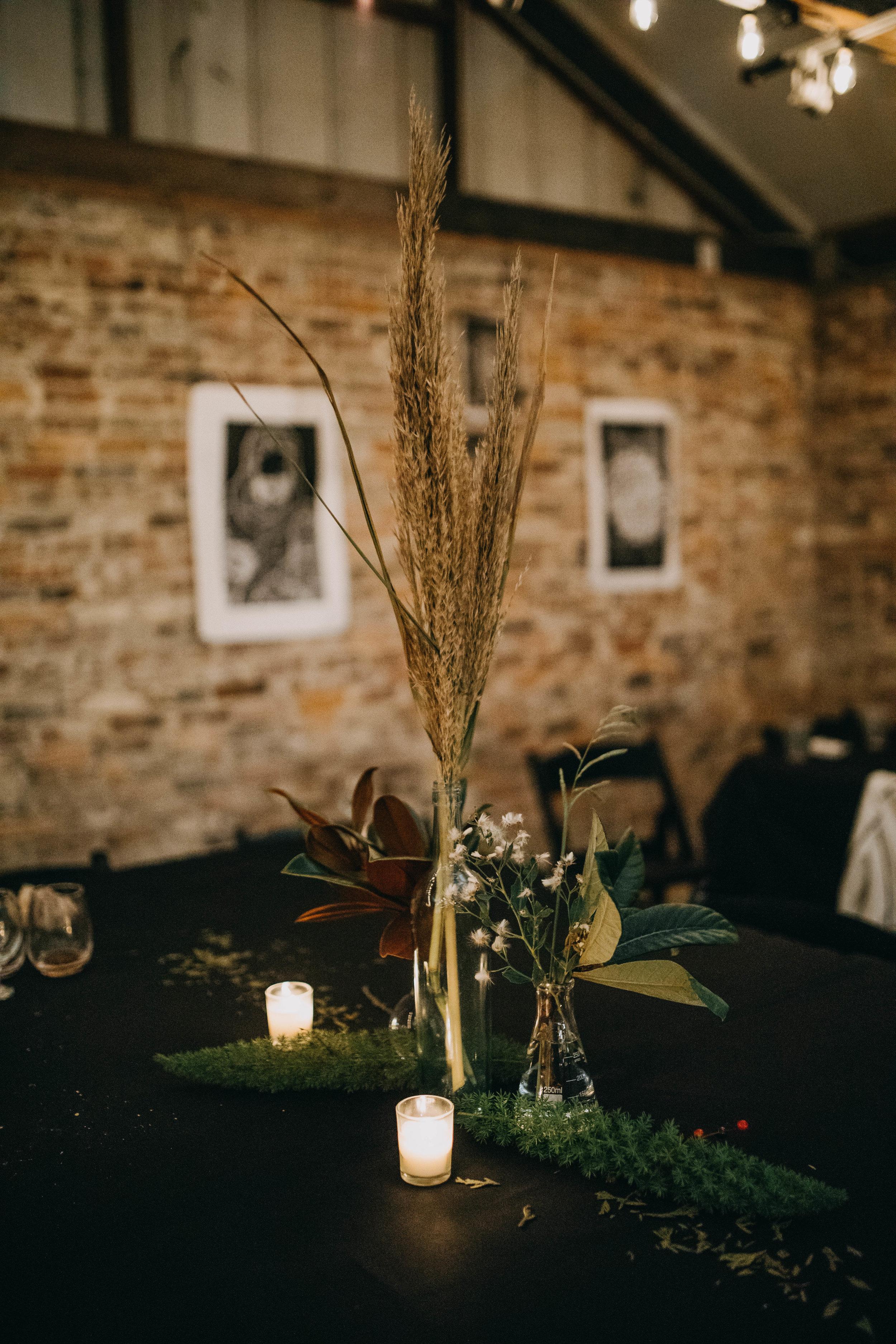 Reception Decor | American Traditional Tattoo Themed Eco Friendly Dark Florida Wedding