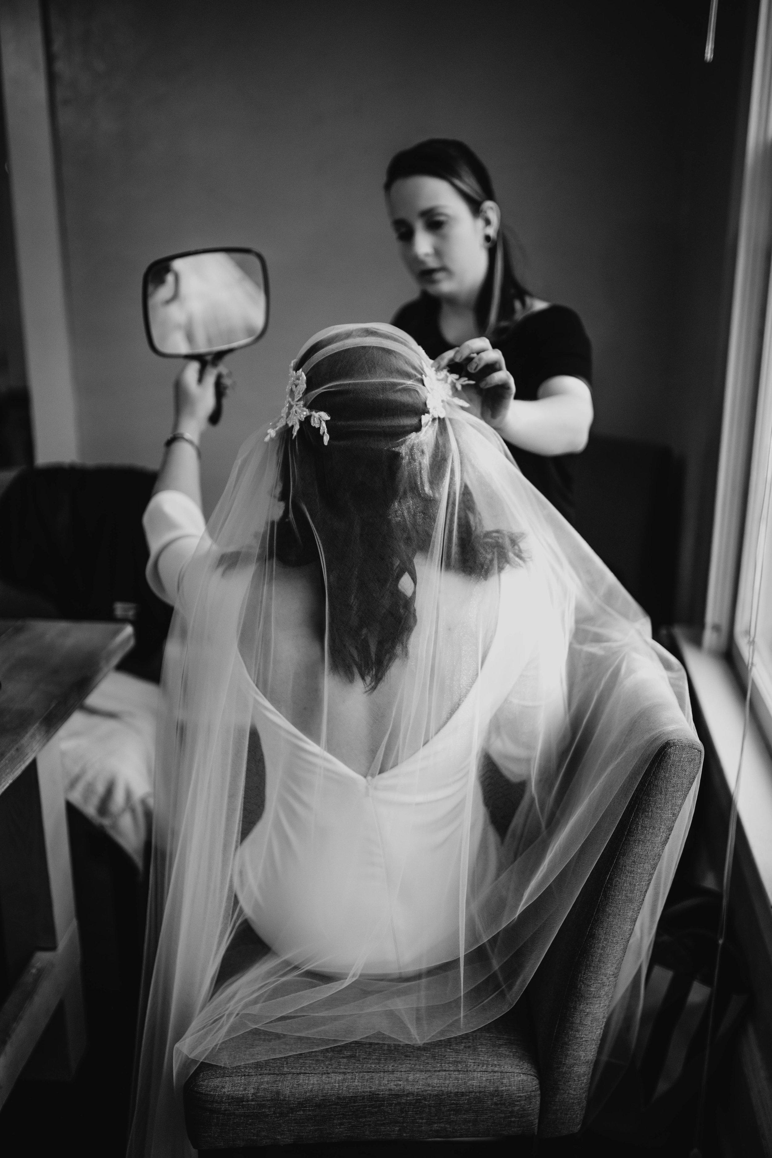 Getting Ready Photos | American Traditional Tattoo Themed Eco Friendly Dark Florida Wedding