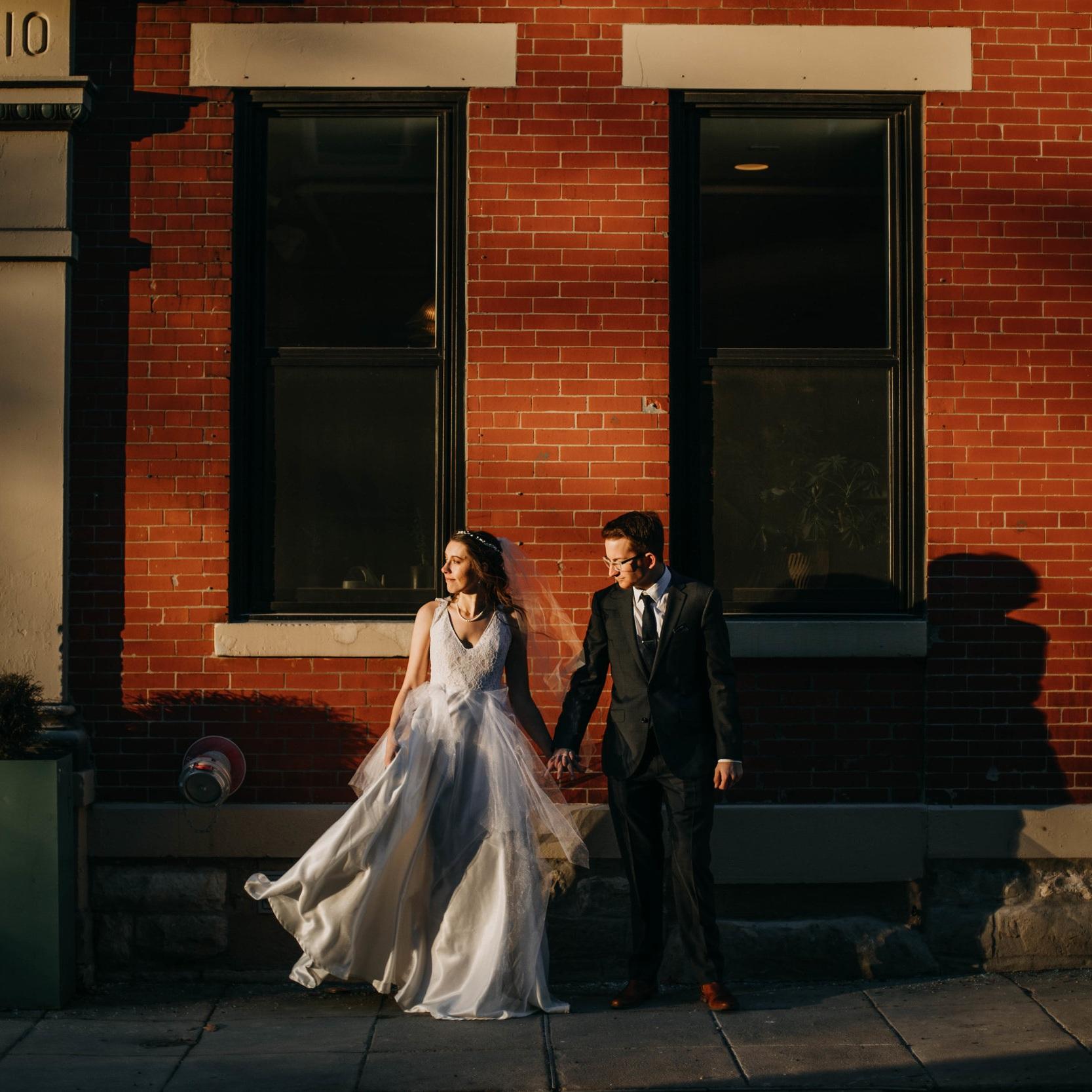 Burns Wedding - Artistic winter wedding in Cincinnati Ohio.