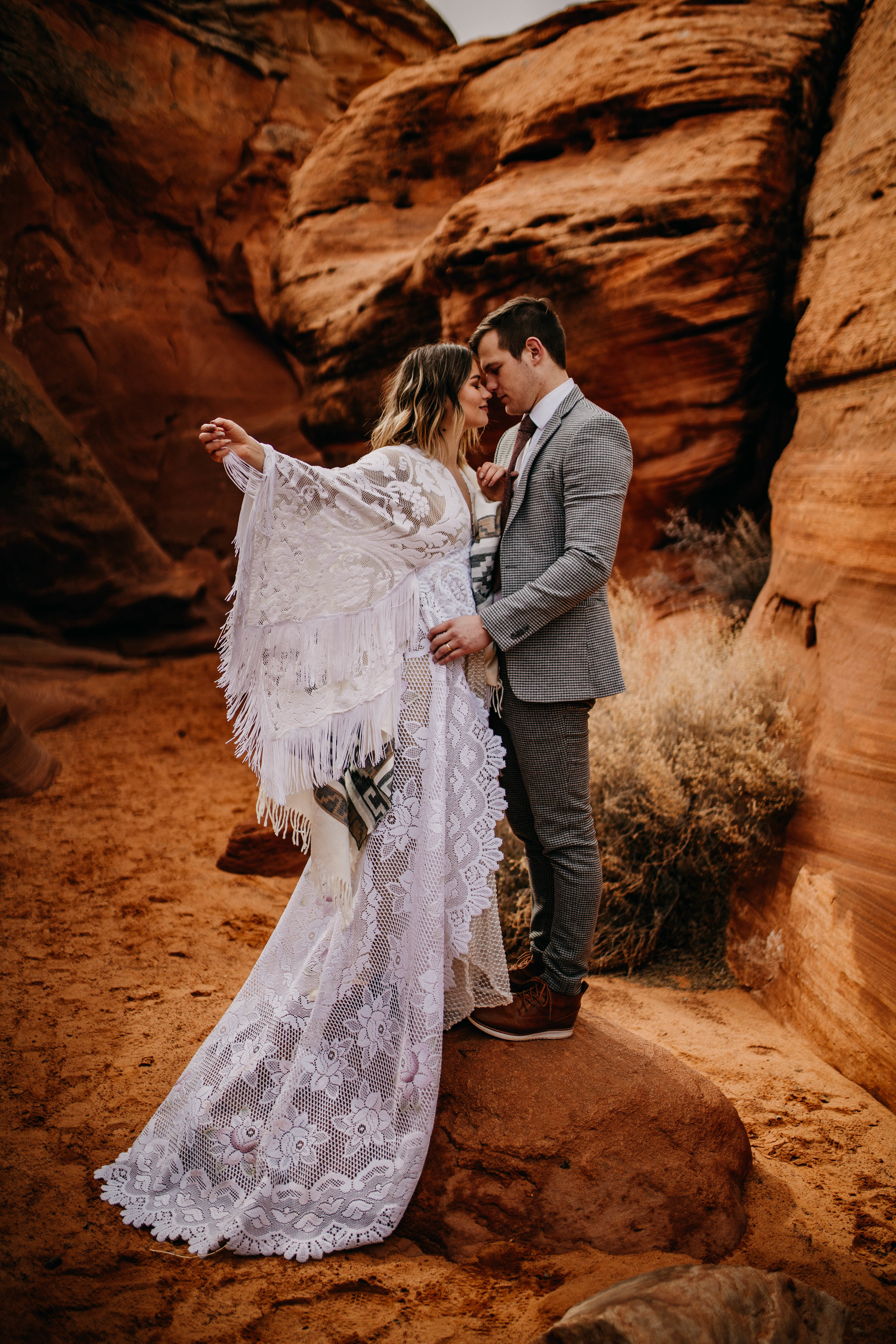 Desert Boho Bride Dress Inspo