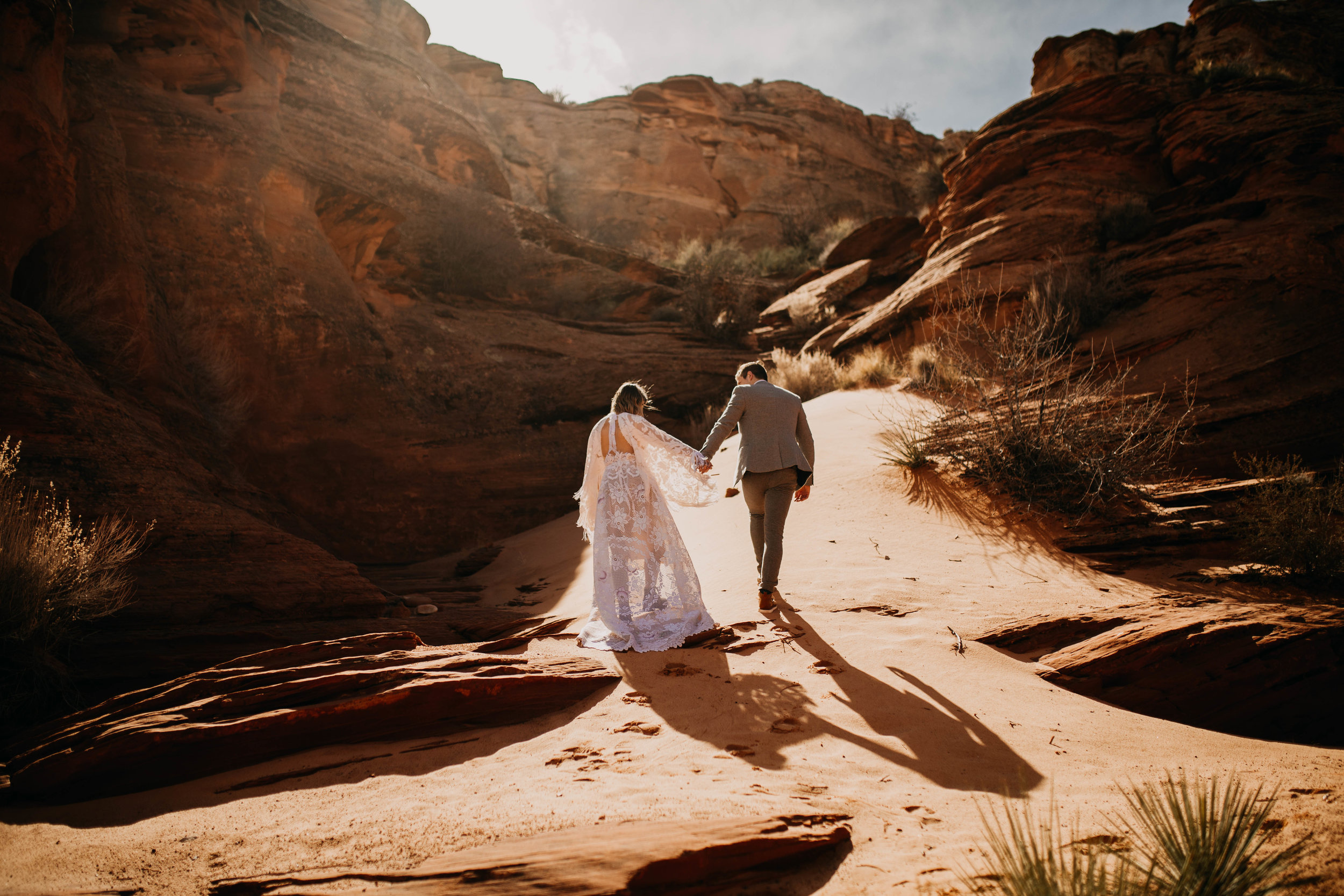 Arizona Desert Slot Canyon Elopement