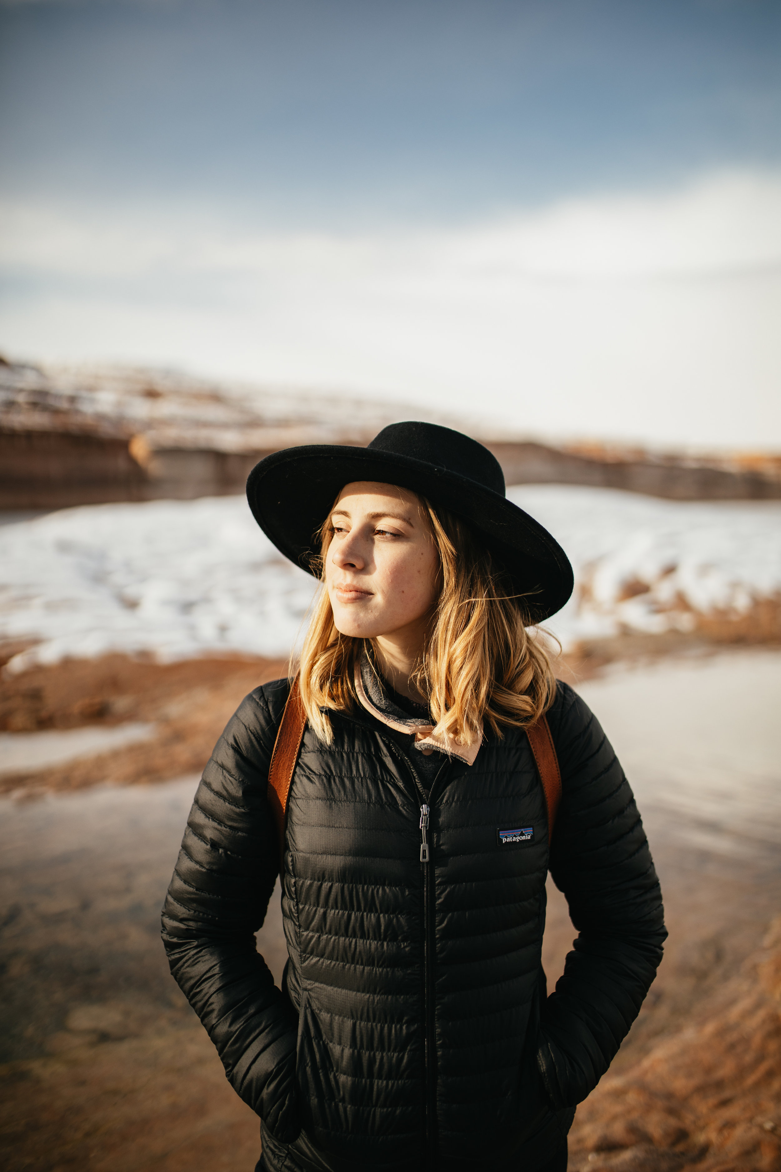 Harsh light portrait in Lake Powell