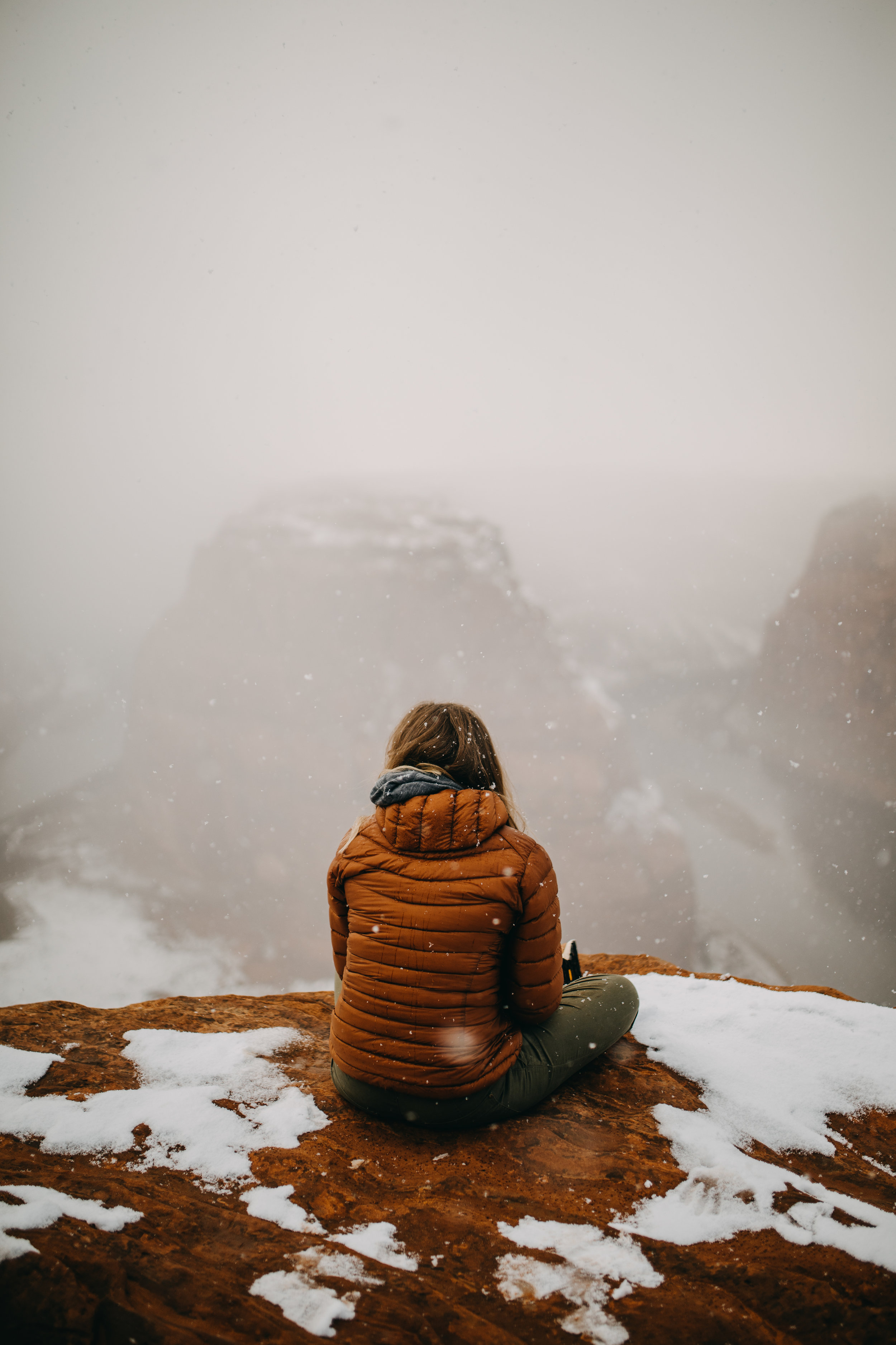 Snowfall at Horseshoe Bend