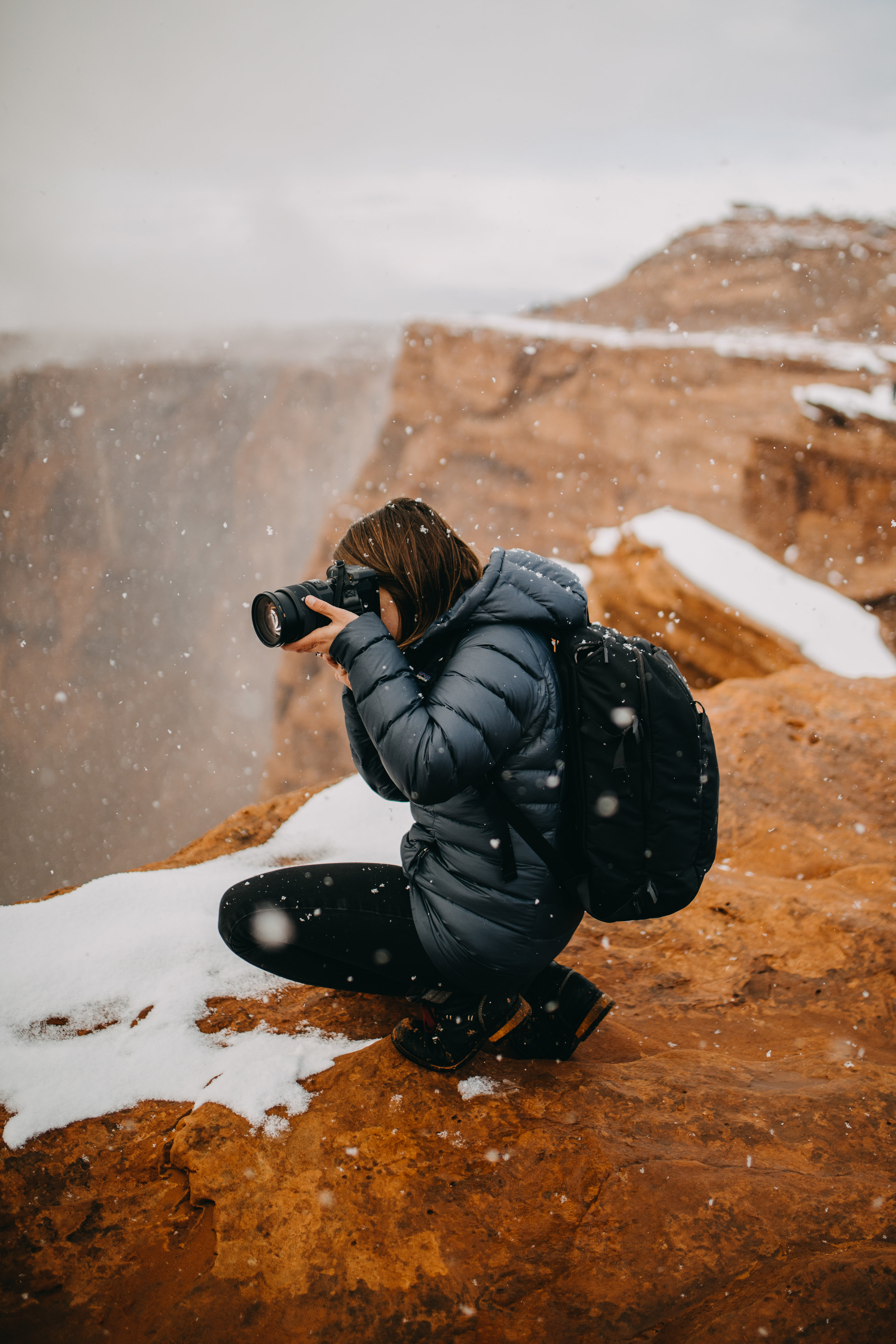 Pictures of Snowfall at Horseshoe Bend