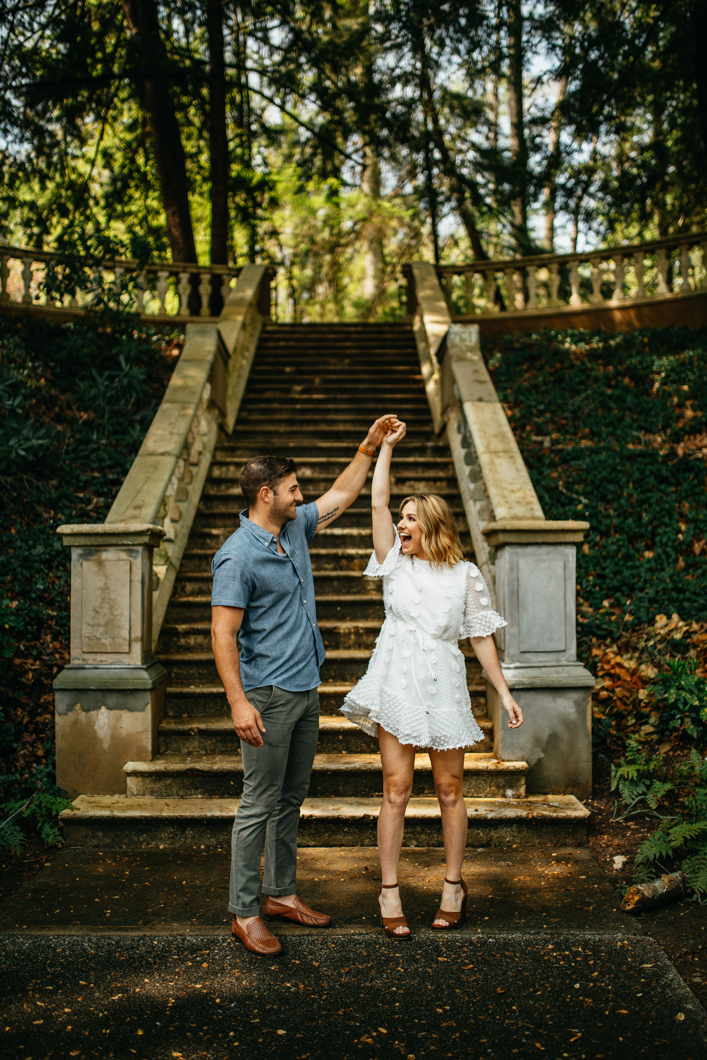 Spring Cator Woolford Garden Engagement Session