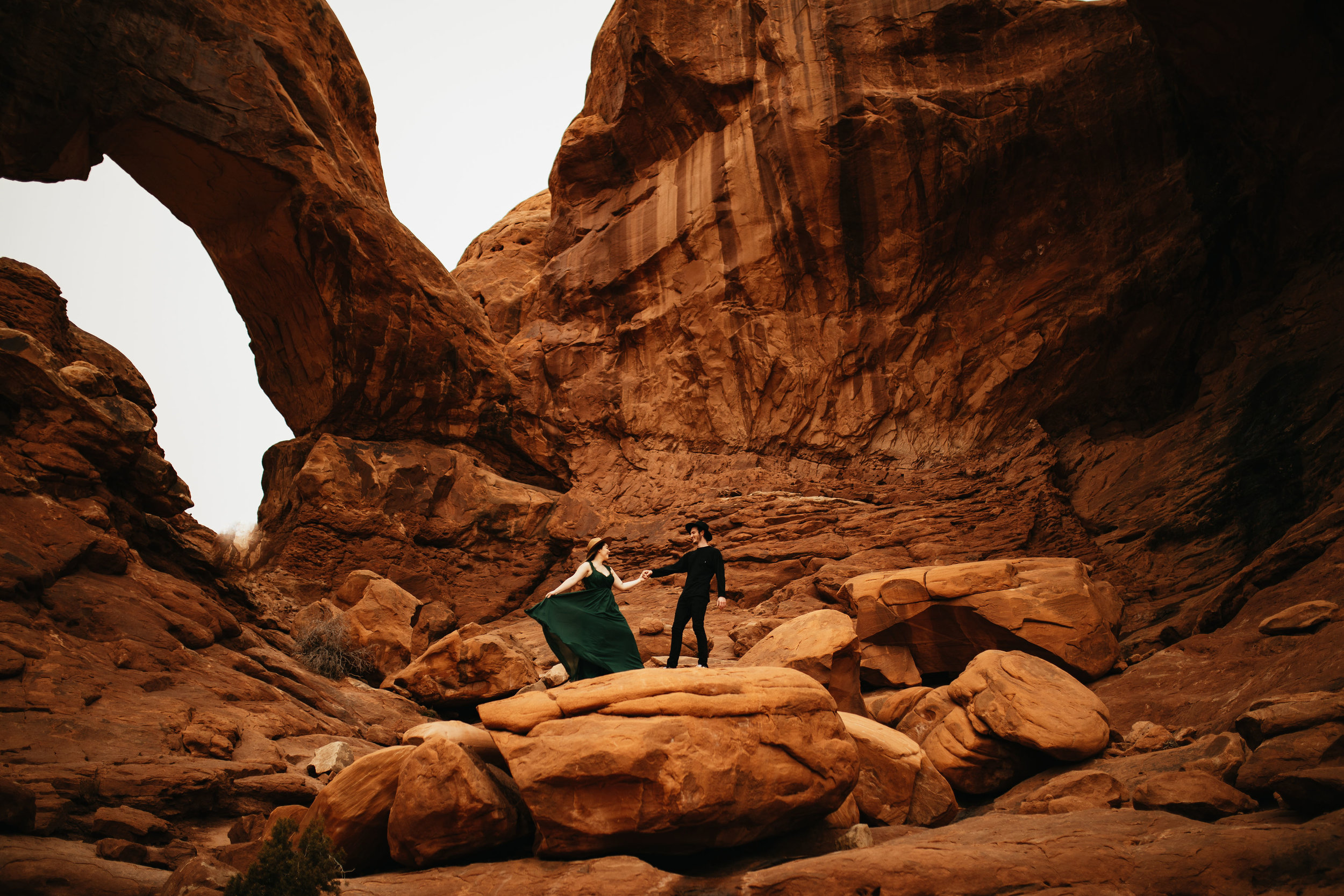 Arches National Park Couple Photography | Double Arch