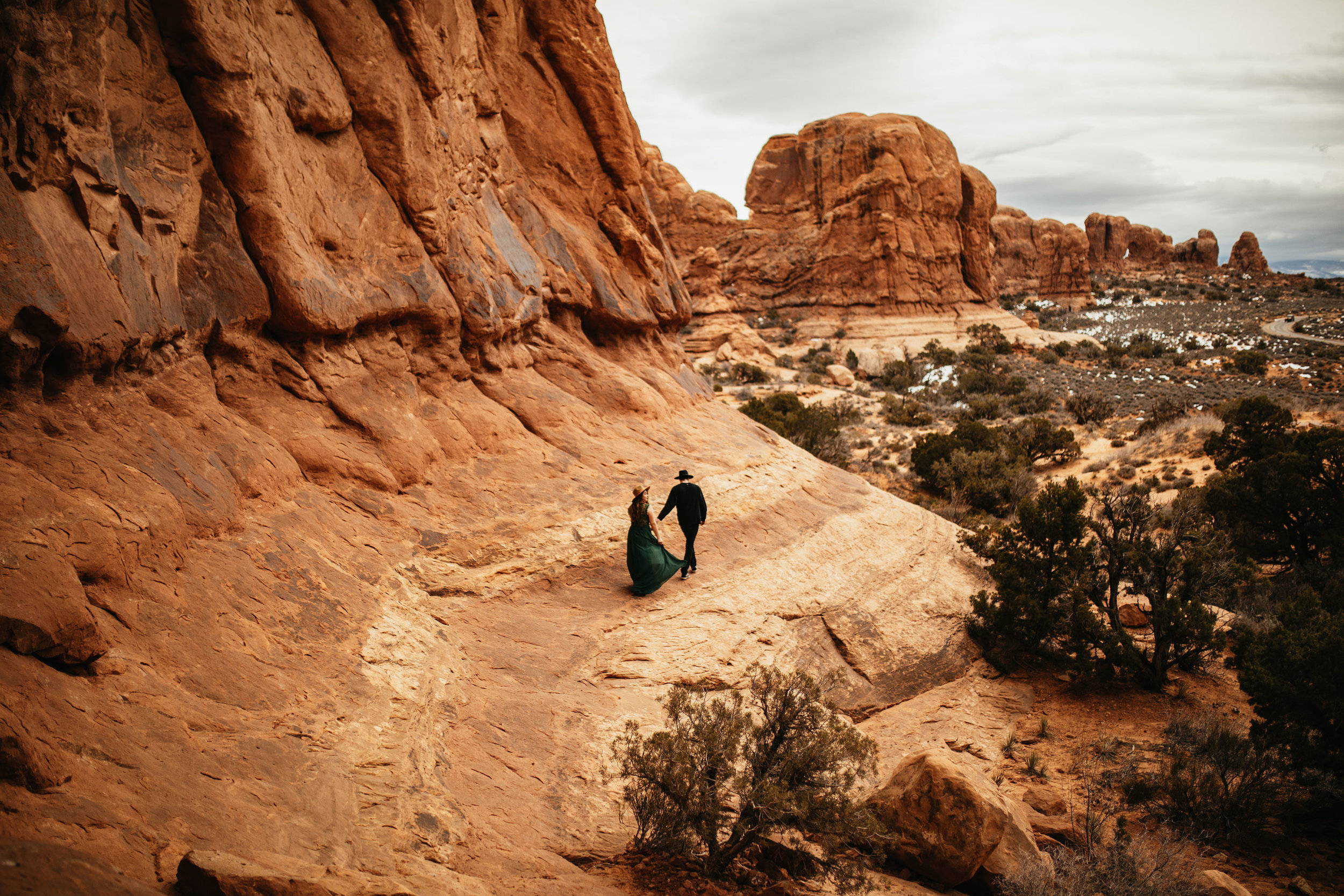 Couple Session in the desert | Arches National Park, Utah