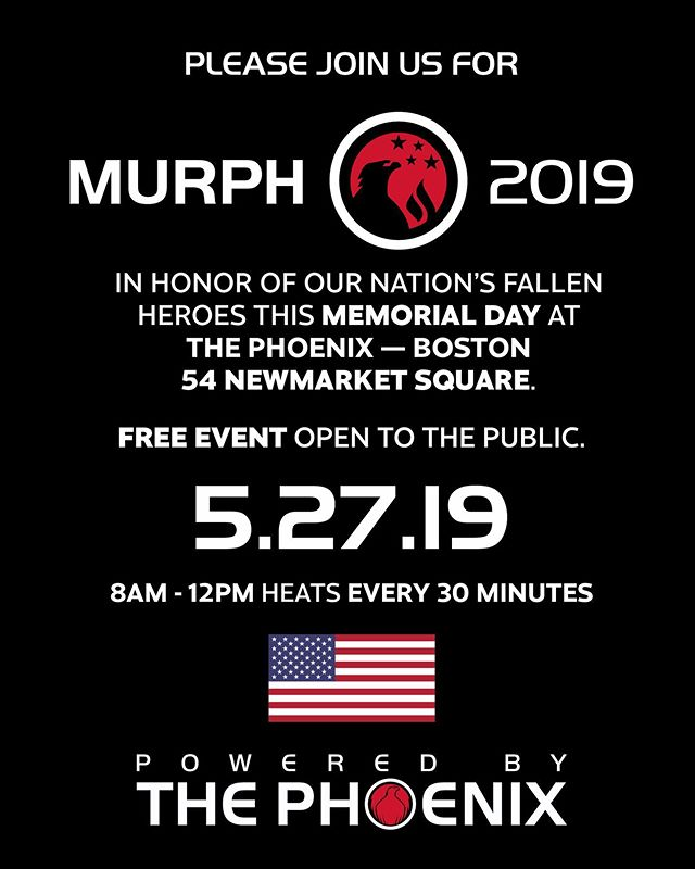 Come join us for Murph! Click the 🔗 in our profile to sign up! We will have options for RX to scaled to team versions for any level to participate! . . . #crossfit #memorialday #murph #fitness #boston #veterans