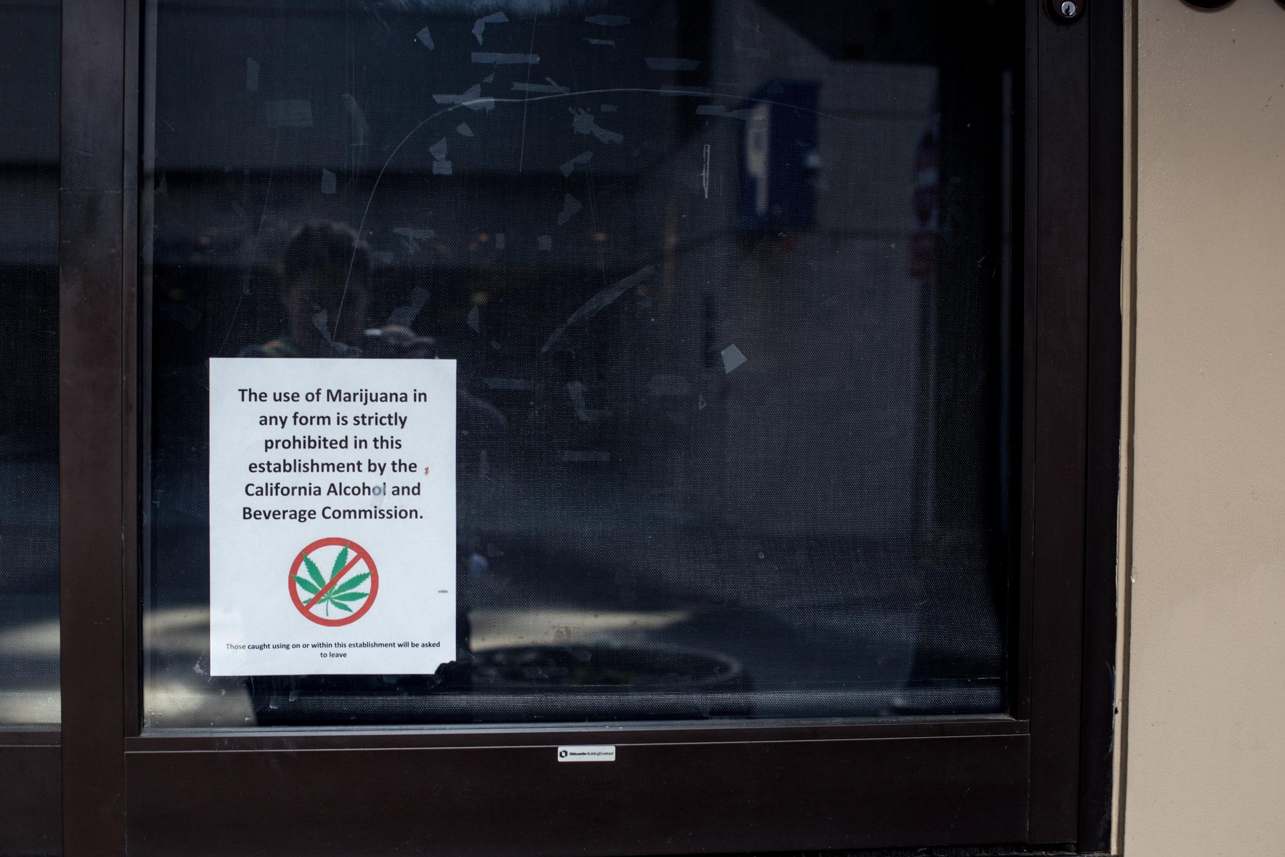 no smoking marijuana in San Jose