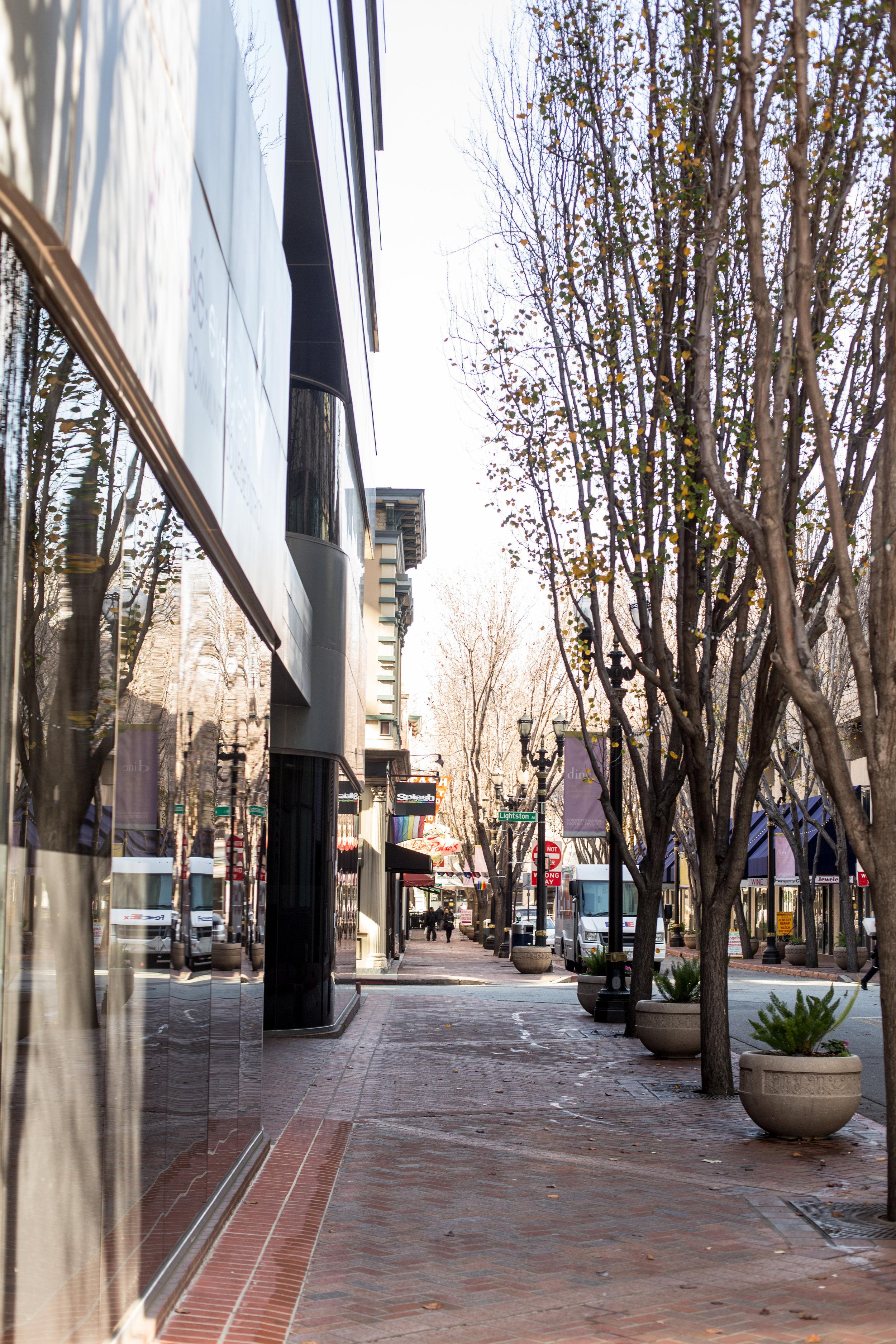San Jose walkway in downtown