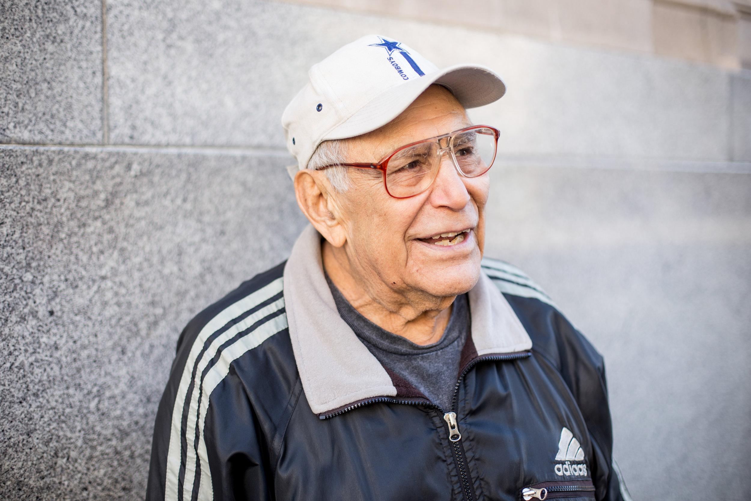 Old veteran in San Jose