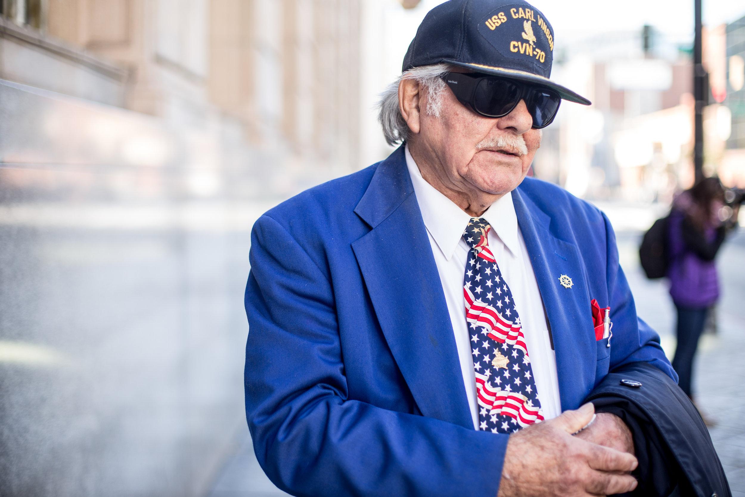 Veteran in downtown San Jose