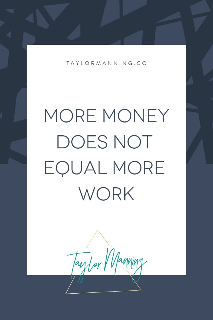 More Money Does Not Equate More Work