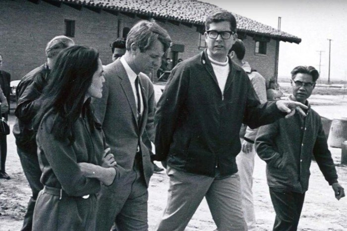 Delores Huerta, Robert Kennedy, Paul Schrade.