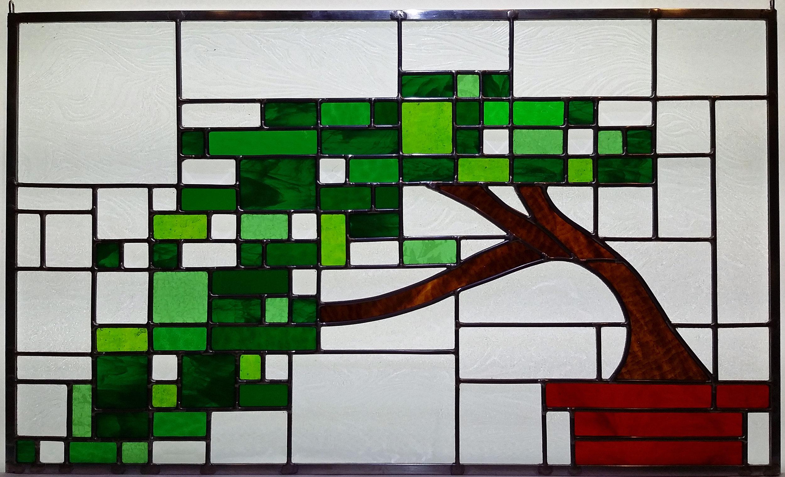 "Bomsai Tree ~ 16"" x 27"" ~ $525"