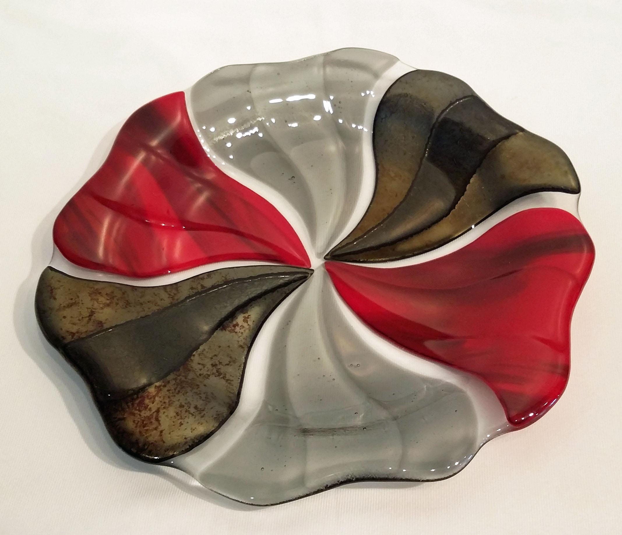 """R & B Pinwheel Bowl ~ 12"""" Round  ~ $125"""