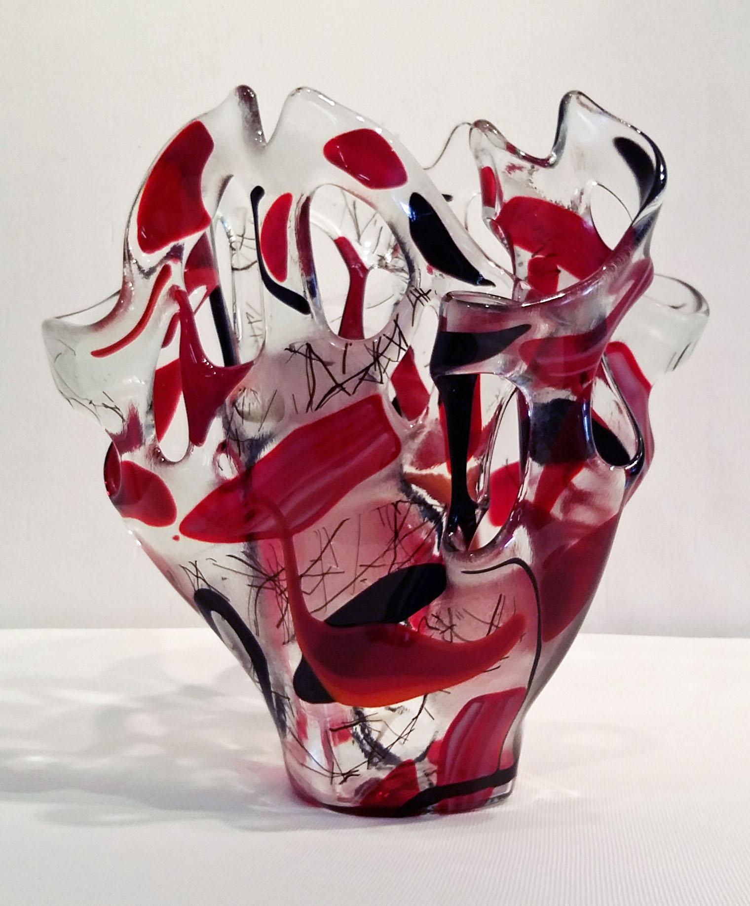 R & B Ribbon Vase ~ $125