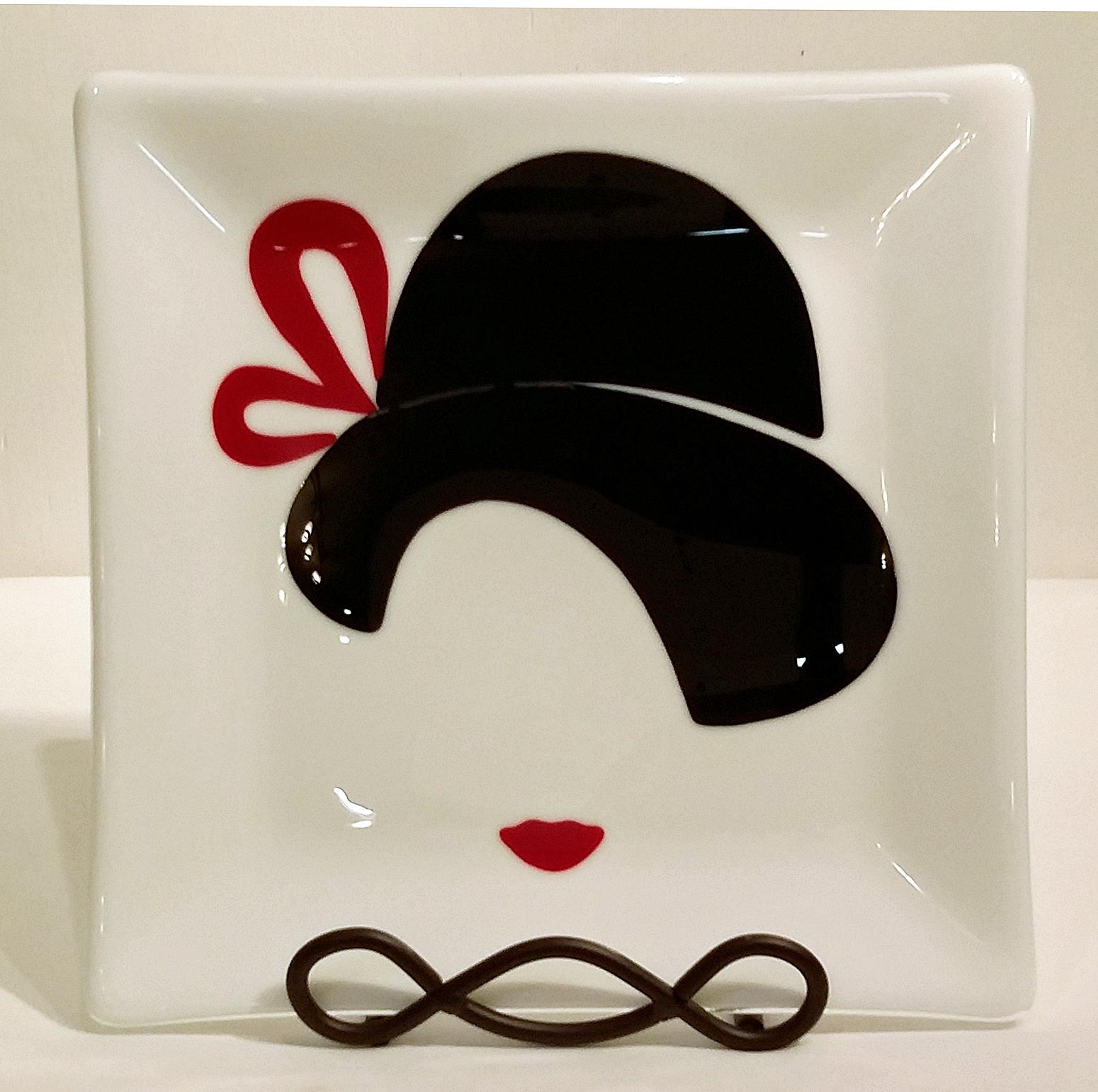 "Flapper ~ 10.25"" Square Plate ~ $125"