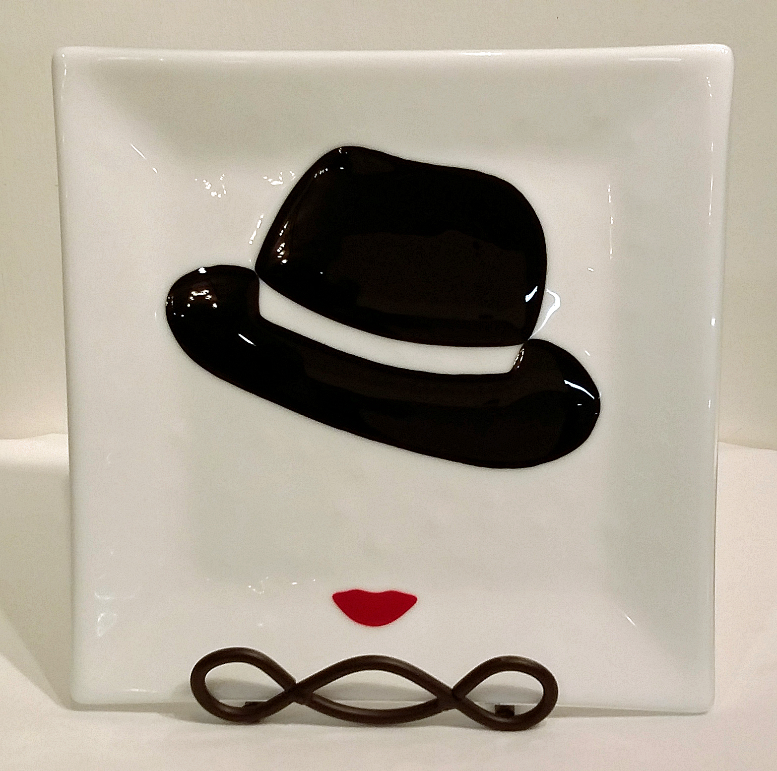 """Jazzy ~ 10.25"""" Square Plate ~ $125"""