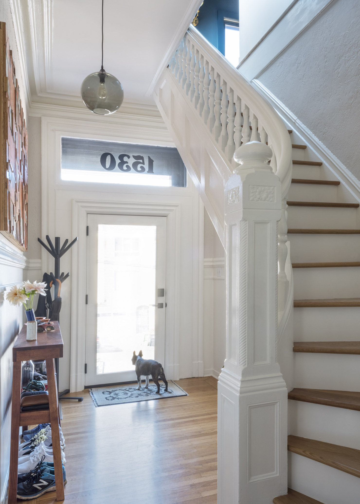 new entry area remodel san francisco restored wood stairs.jpg