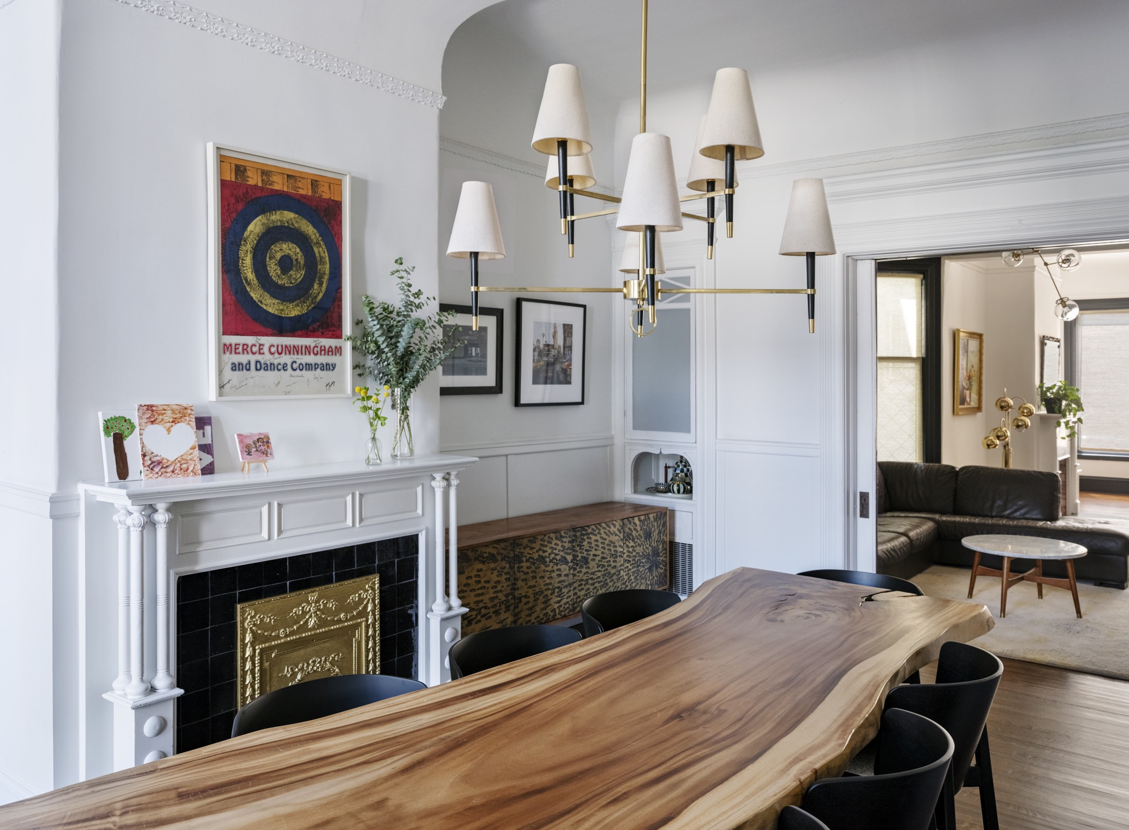 san francisco dining room remodel historic fireplace and live edge wood table.jpg