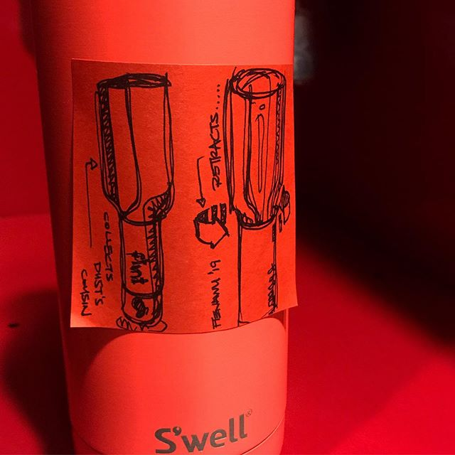 Swell Sketch Bruh | Can anyone guess what product is sketched? | I'm been wanting to buy it for the longest while but I keep forgetting to buy at least I'm a trendy ass beyotch for having a neon orange @swellbottle right? | Hint: the answer is in the hashtags . . . #id #flint #idsketch #industrialdesign #industrialdesigner #productdesign #productsketch #sharpie #quicksketch #design #designsketch #sketch #postit #minisketch #lintroller #flintlintroller @meet.flint