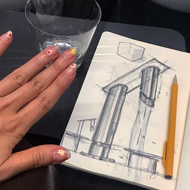 Like Yuh Need A Tap | I went to an IDSA event in NYC to hear some OG Industrial Designers from back in the day talk about ID back then | my core shadow on my chrome is probably wrong but look at my nails though | there's a fried egg on my thumb . . . #idsketch #idsketching #industrialdesigner #designing #id #designer #productdesign #industrialdesign #sketch #dailysketch #design #designporn #nailart #cute #desiño #designlife #dailydesign #analogsketch #pensketch
