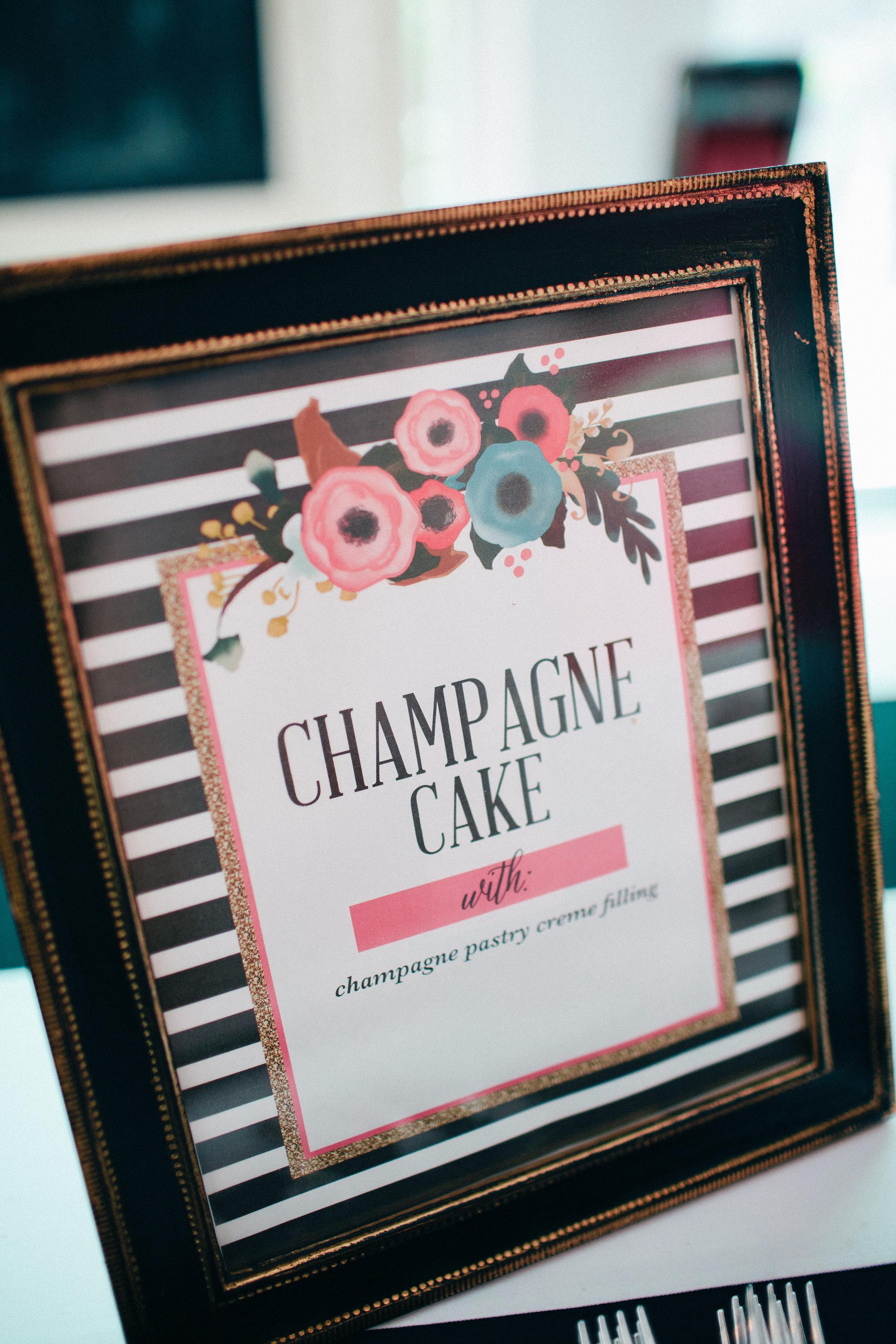 The Helpful Host - Houston Event Planner - Bridal Shower - champagne cake menu.jpg