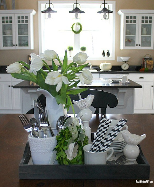 Black and White Tablescape from  Farmhouse 40
