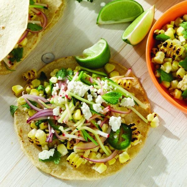 Charred Corn Veggie Tacos from  The Jenny Evolution