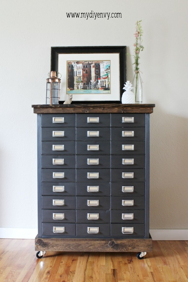 Metal Filing Cabinet Makeover from  My DIY Envy