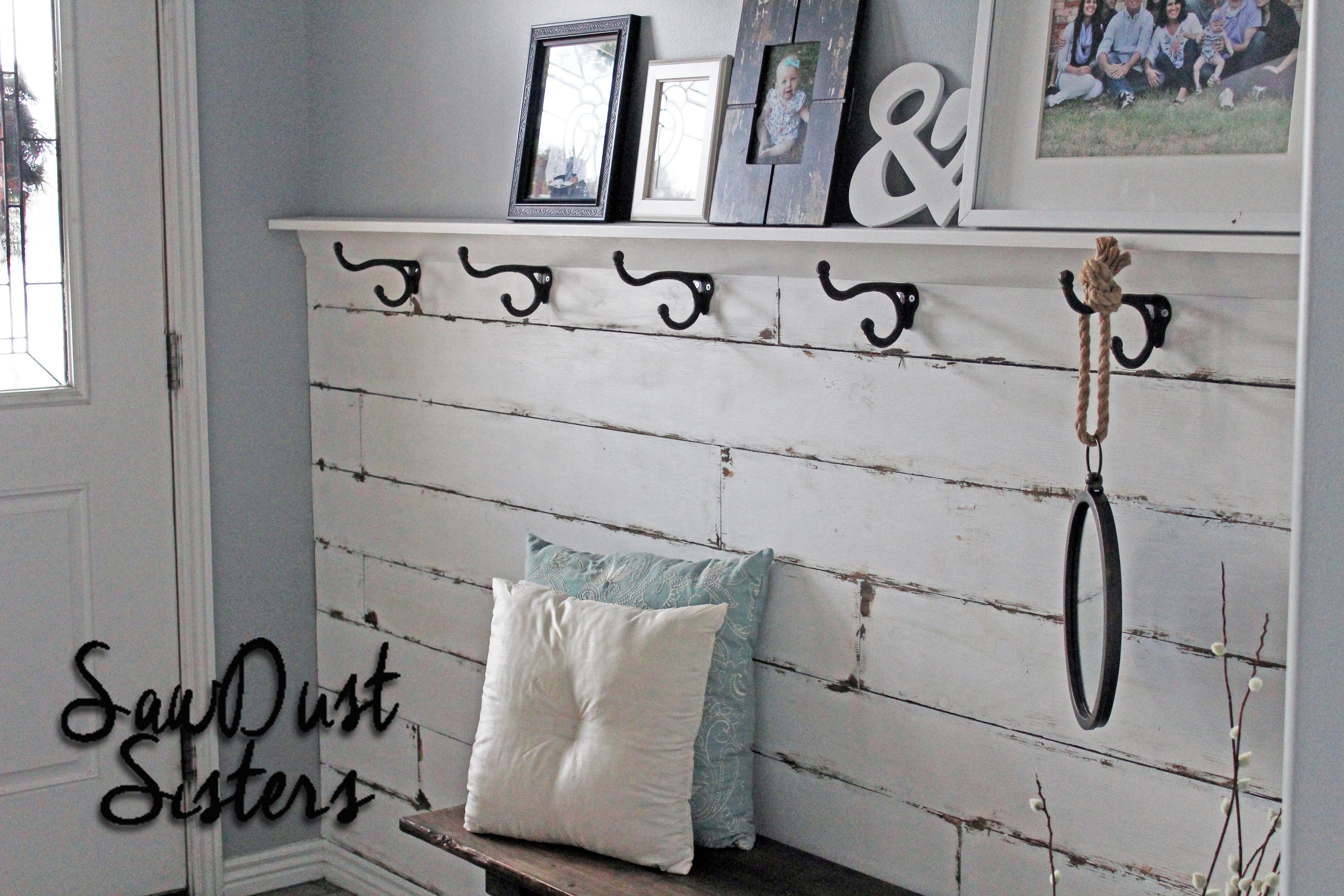 DIY Plank Wall from  Sawdust Sisters