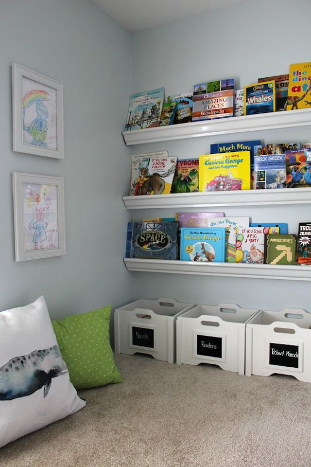 Kid's Reading Nook from  Clean & Scentsible