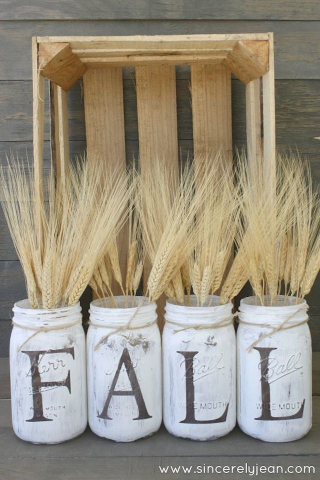 DIY Rustic Mason Jars from Sincerely Jean via  Giggles Galore