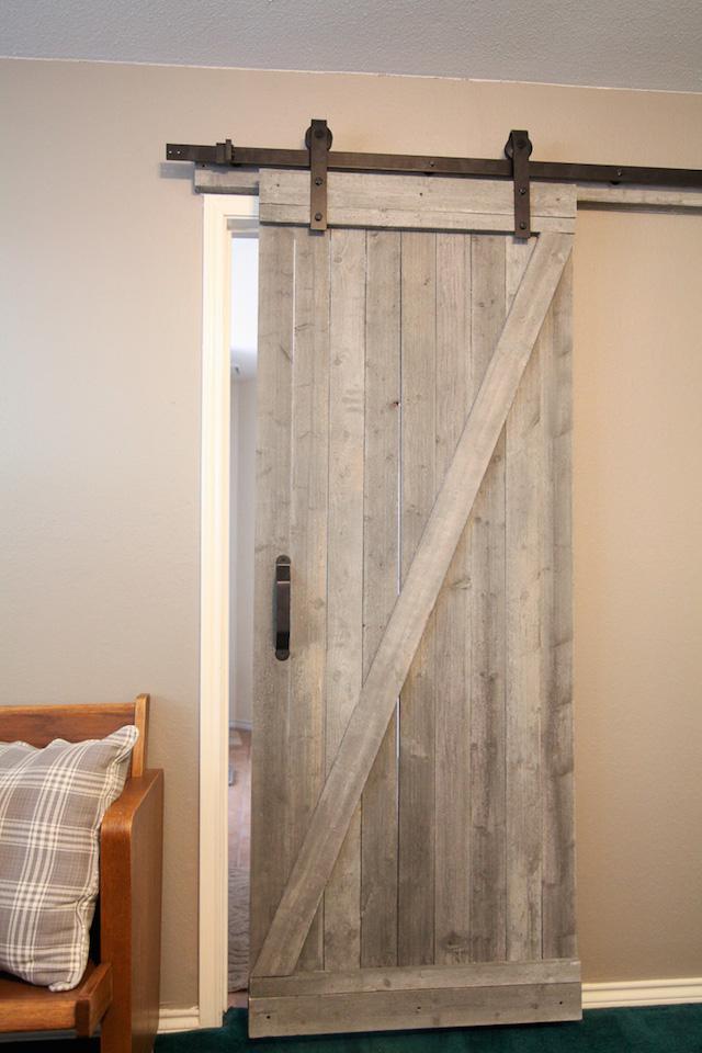DIY Rustic Barn Door from  Run To Radiance
