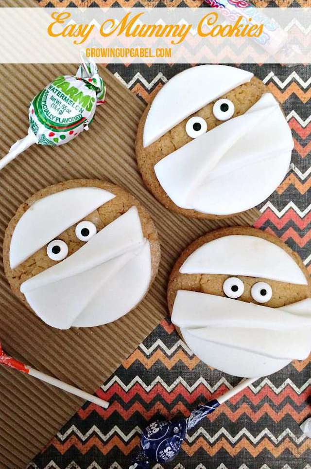 Mummy Cookies from  Growing Up Gabel