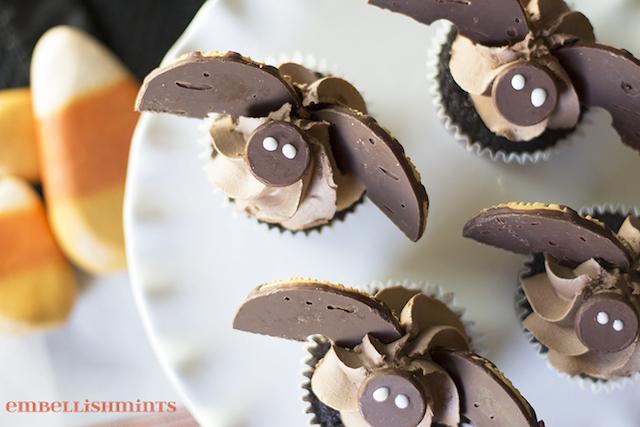 Bat Cupcakes from  Embellishmints