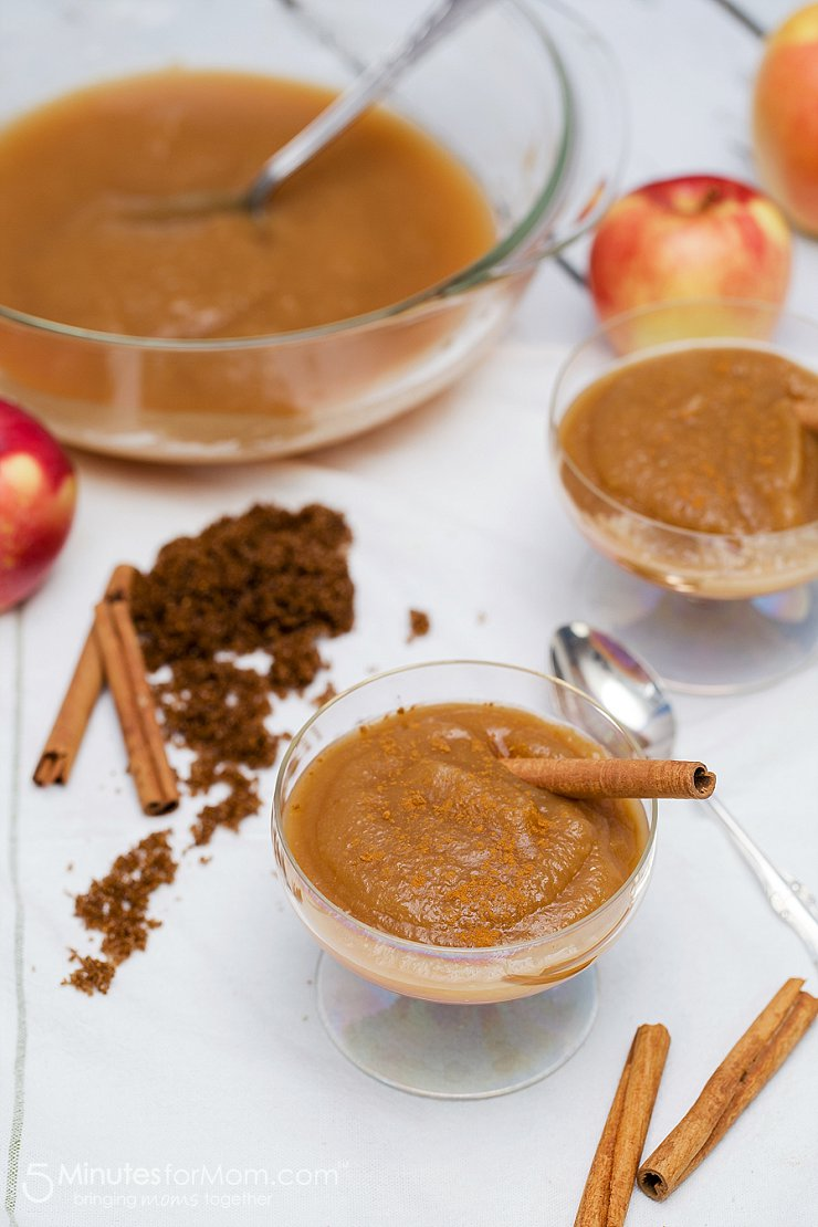 Brown Sugar Applesauce from  5 Minutes for Mom