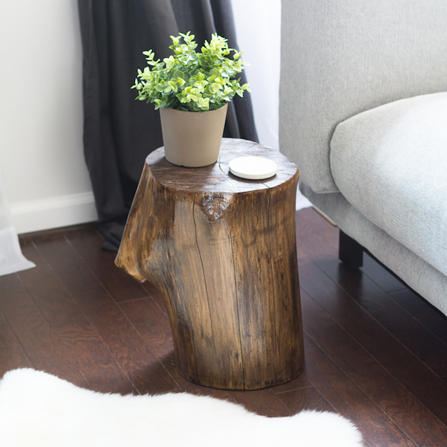 Tree Stump Side Table from  Simply Designing