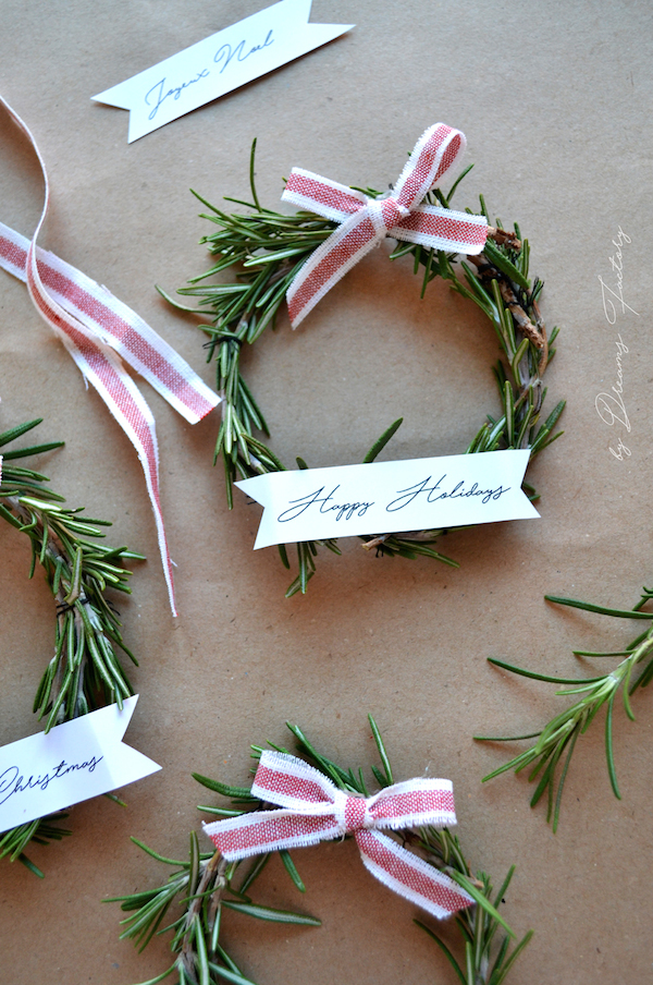 Christmas Rosemary Wreaths from  Dreams Factory