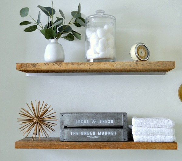 DIY Faux Floating Shelves from  Chatfield Court