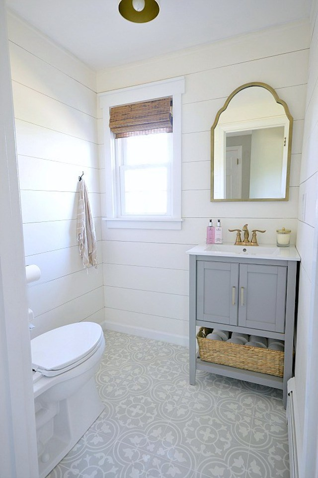Powder Room Makeover from  Wife In Progress