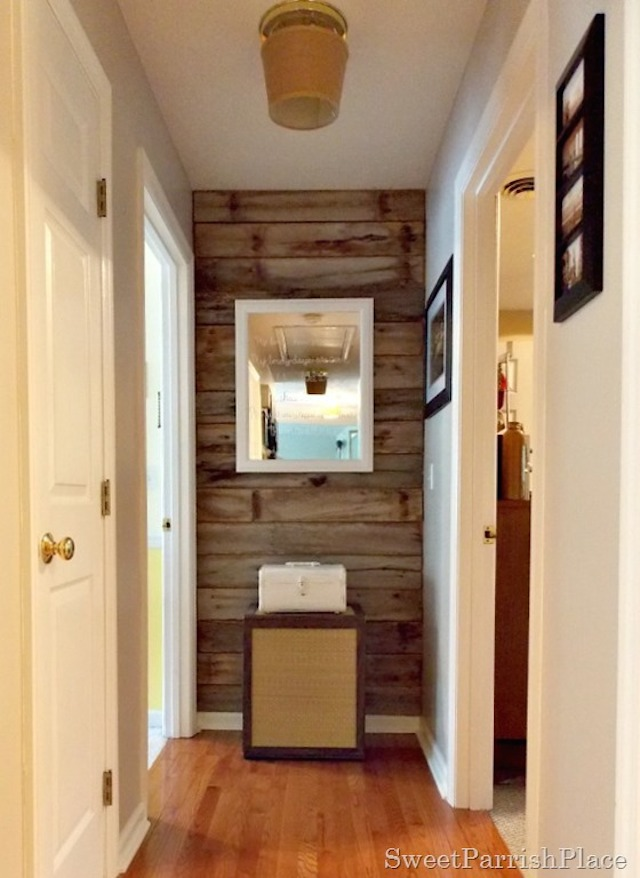 DIY Rustic Wood Wall from  Sweet Parrish Place