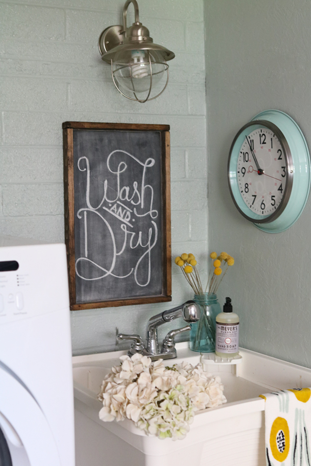 Laundry Room on a Budget from  Lolly Jane
